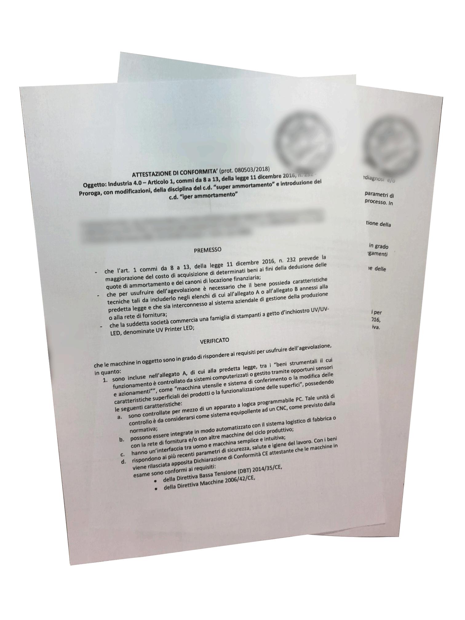 LIYU certificazione industria 4.0